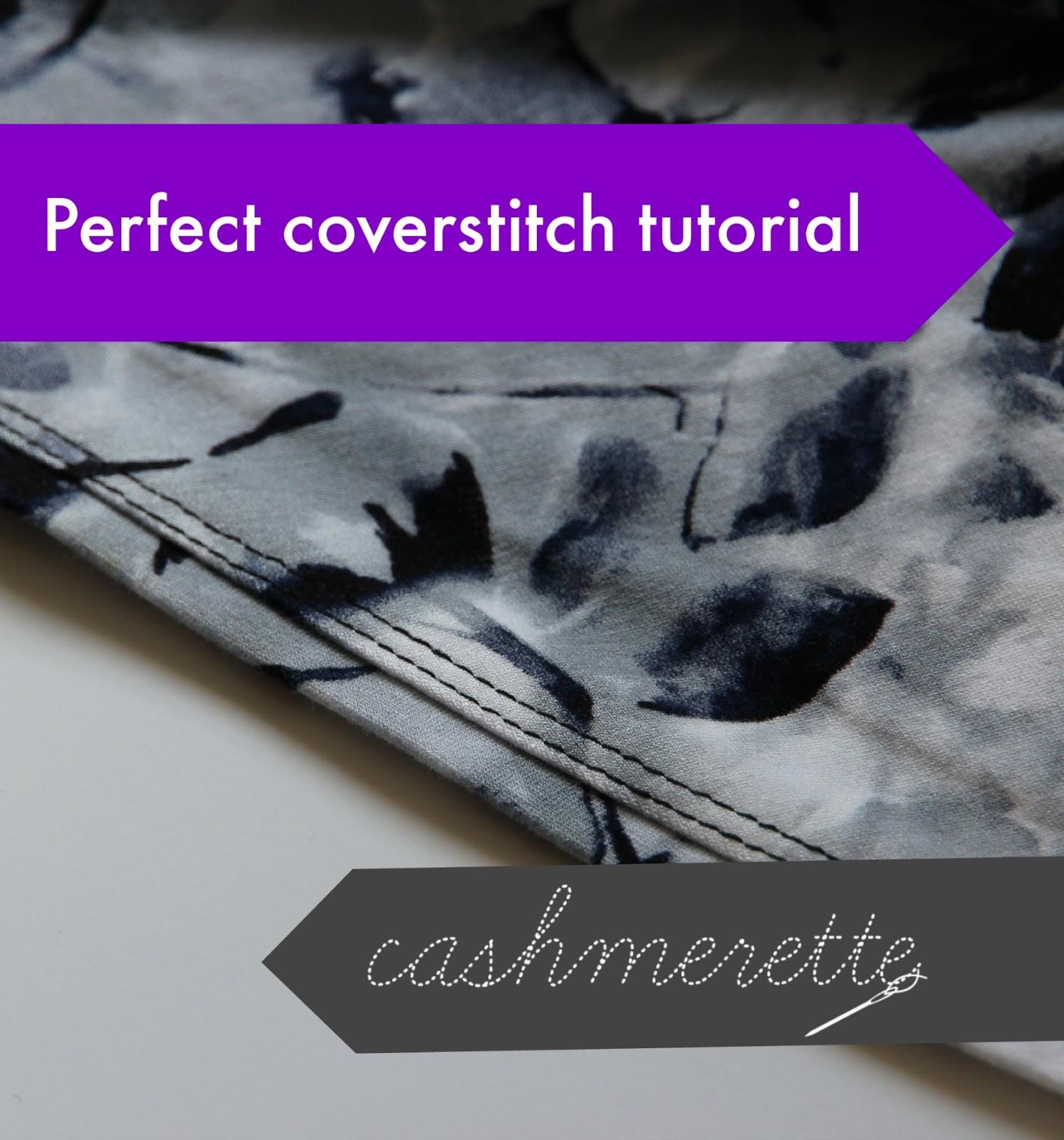 Coverstitch tutorial | Cashmerette