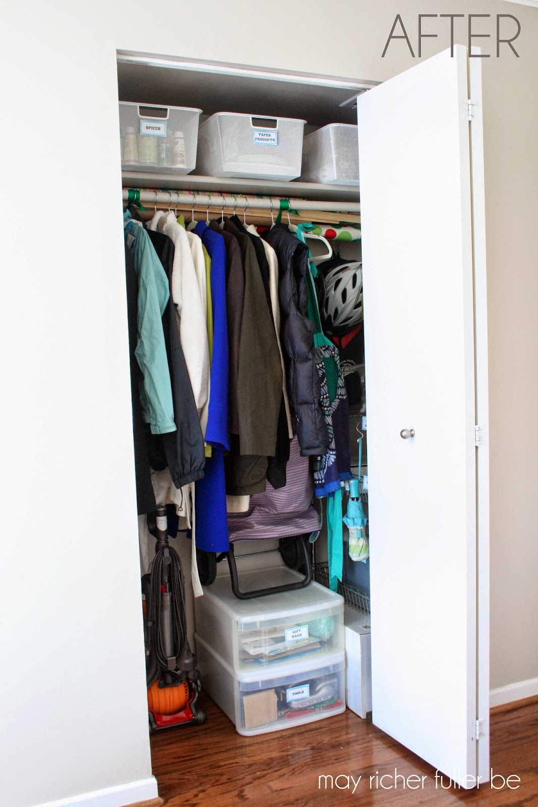 Operation ReOrganization Front Hall Closet After