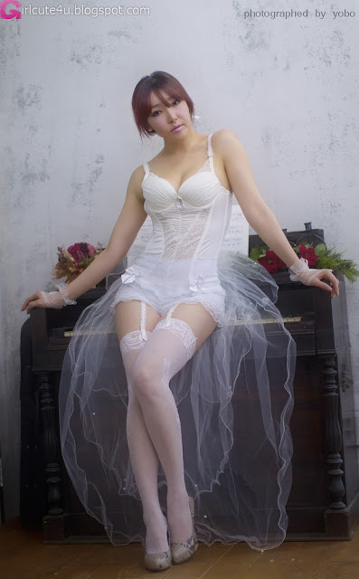 5 Park Se Ah - White Lingerie-very cute asian girl-girlcute4u.blogspot.com