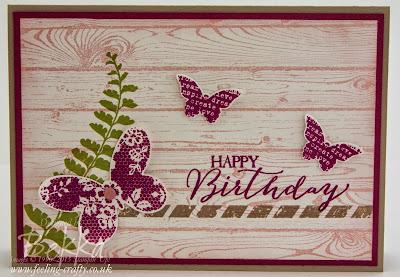 Birthday Card featuring the Butterfly Basics Stamp Set from Stampin' Up! UK - check it out here
