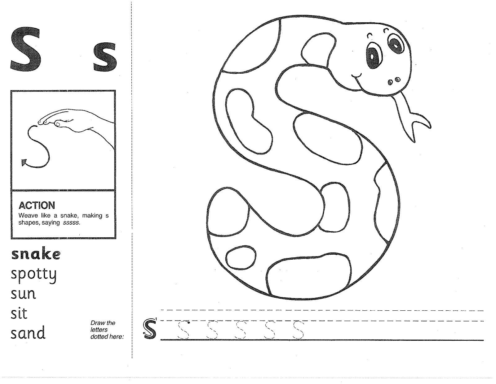 Jolly Phonics Worksheets Images For Jolly Phonics