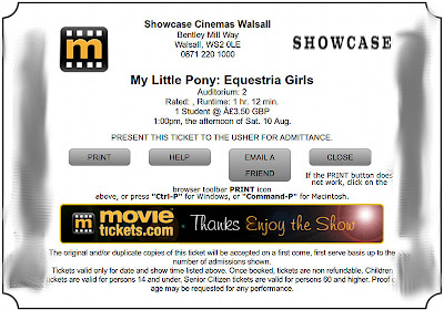 My Equestria Girls ticket