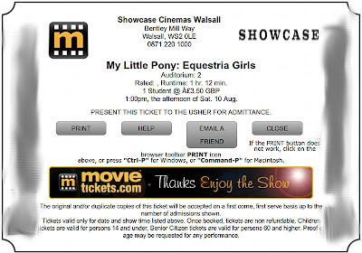 My Equestria Girls ticket