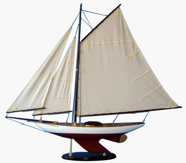 Classic Bermuda Sloop Sailboat Model