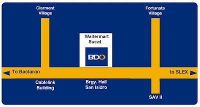 Banco de Oro BDO Waltermart Sucat Parañaque City Metro Manila Philippines