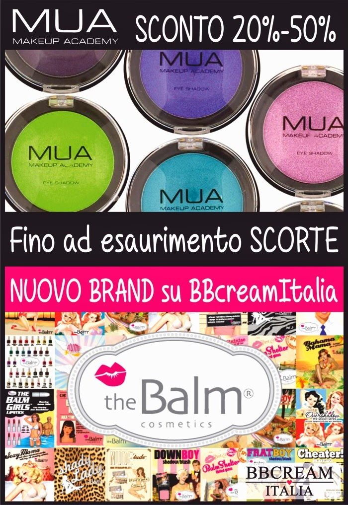BB Cream Italia - MUA sconto 20%-50% + The Balm Cosmetics