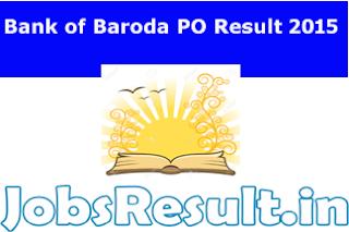 Bank of Baroda PO Result 2015