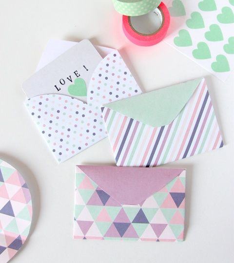 pastel geometric envelopes