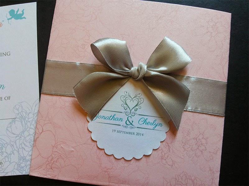 Kota Kinabalu, Malaysia Wedding Card with ribbon