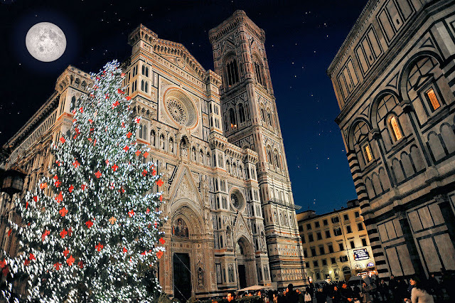 Christmas at Santa Maria del Fiore in Florence, Italy. Photo: Any Color You Like.