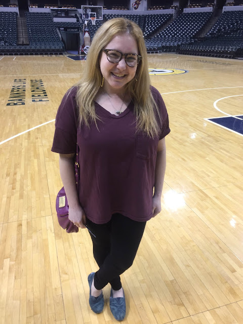 #OOTD, Outfit of the Day, Jamie Allison Sanders, Skargorn #61 Tee, Bankers Life Fieldhouse, Indiana Pacers