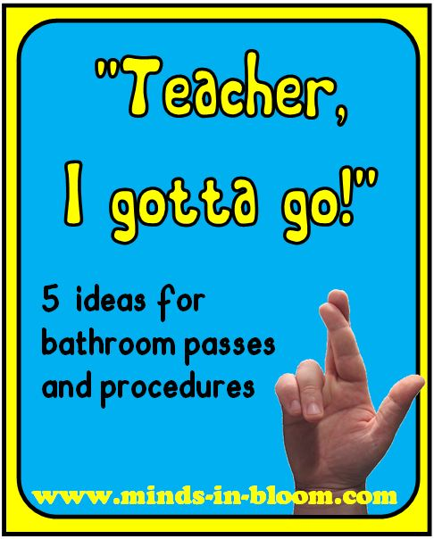 5 Ideas For Bathroom Passes And Procedures Minds In Bloom