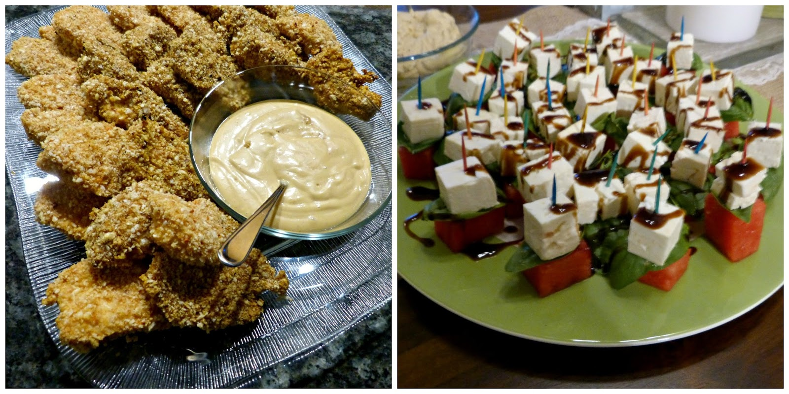 Instead it needed to be small bites and foods that are easy for guests to help themselves to or to eat off of paper plates while standing and mingling. & A Squared: BBQ Small Plates Party Menu + Watermelon u0026 Feta Bites Recipe