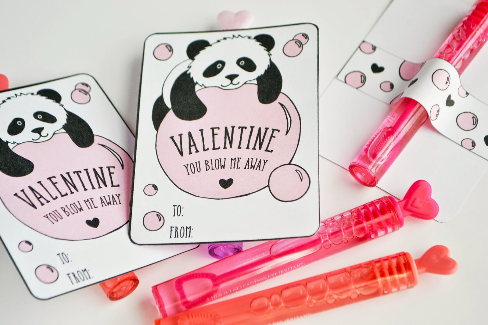 Sunny by Design Panda Bubbles Free printable Valentine card