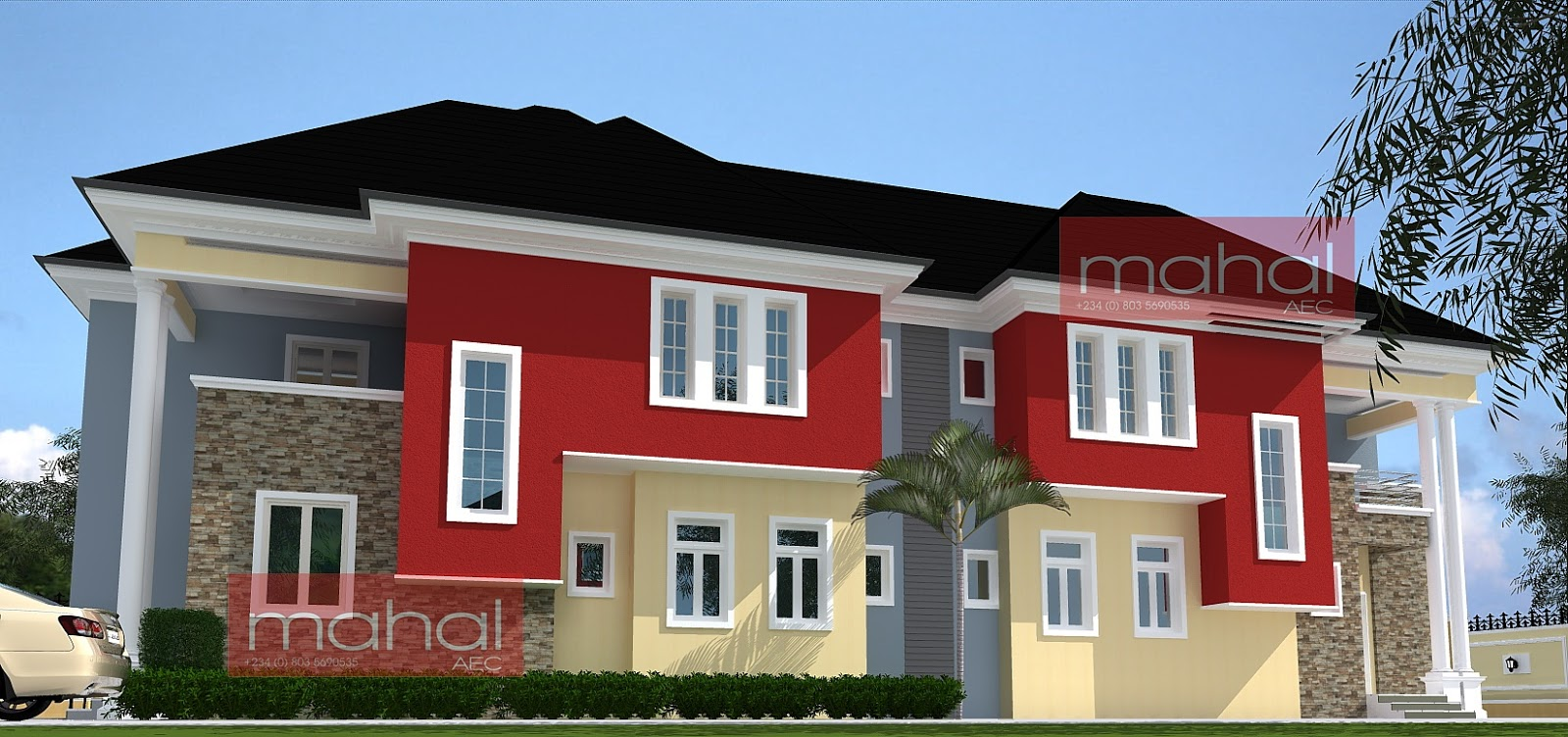 Contemporary nigerian residential architecture p uwa for Nigerian architectural designs