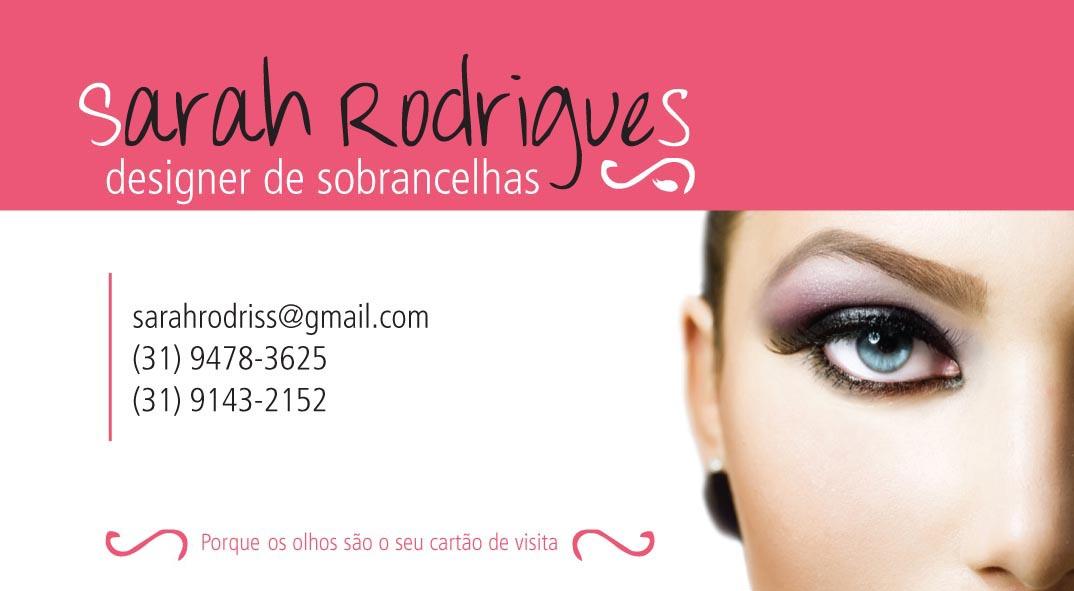 Fabuloso Novos olhares: Cartão de Visitas - Sarah Rodrigues SZ79