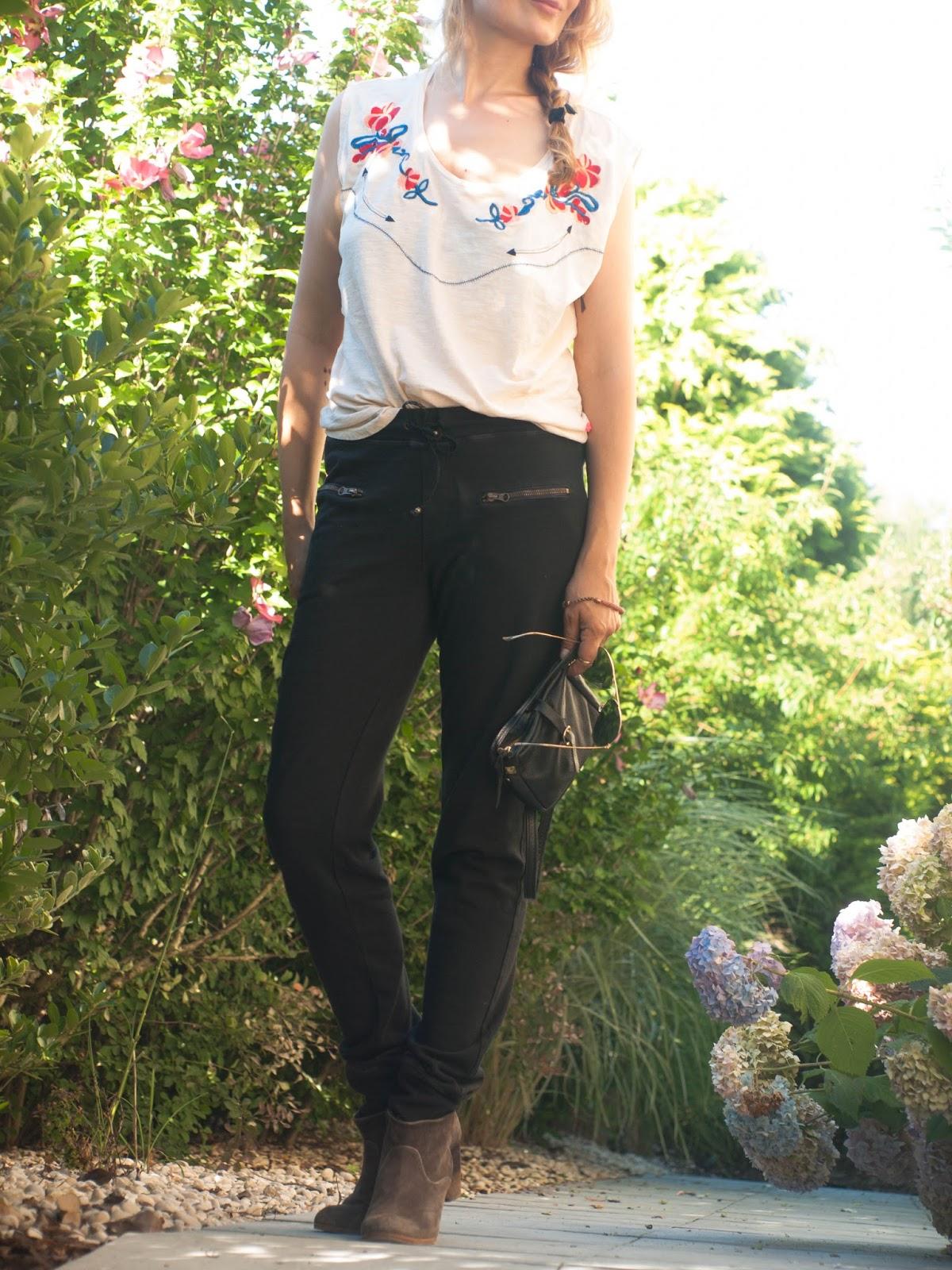 Rag doll, ragdoll LA, track pamnts, Kate bosworth, Rosie HW, Leon and Harper, Western shirt, Comptoir des Cottoniers