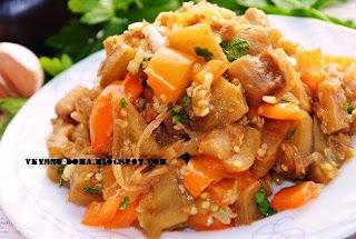 Салат из баклажан и сладкого перца