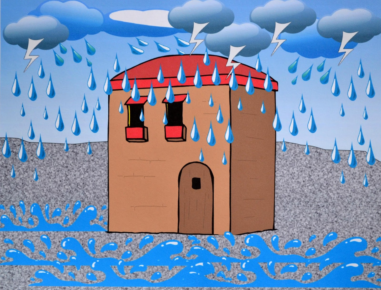 Bible fun for kids parable of build your house on the for Build your house