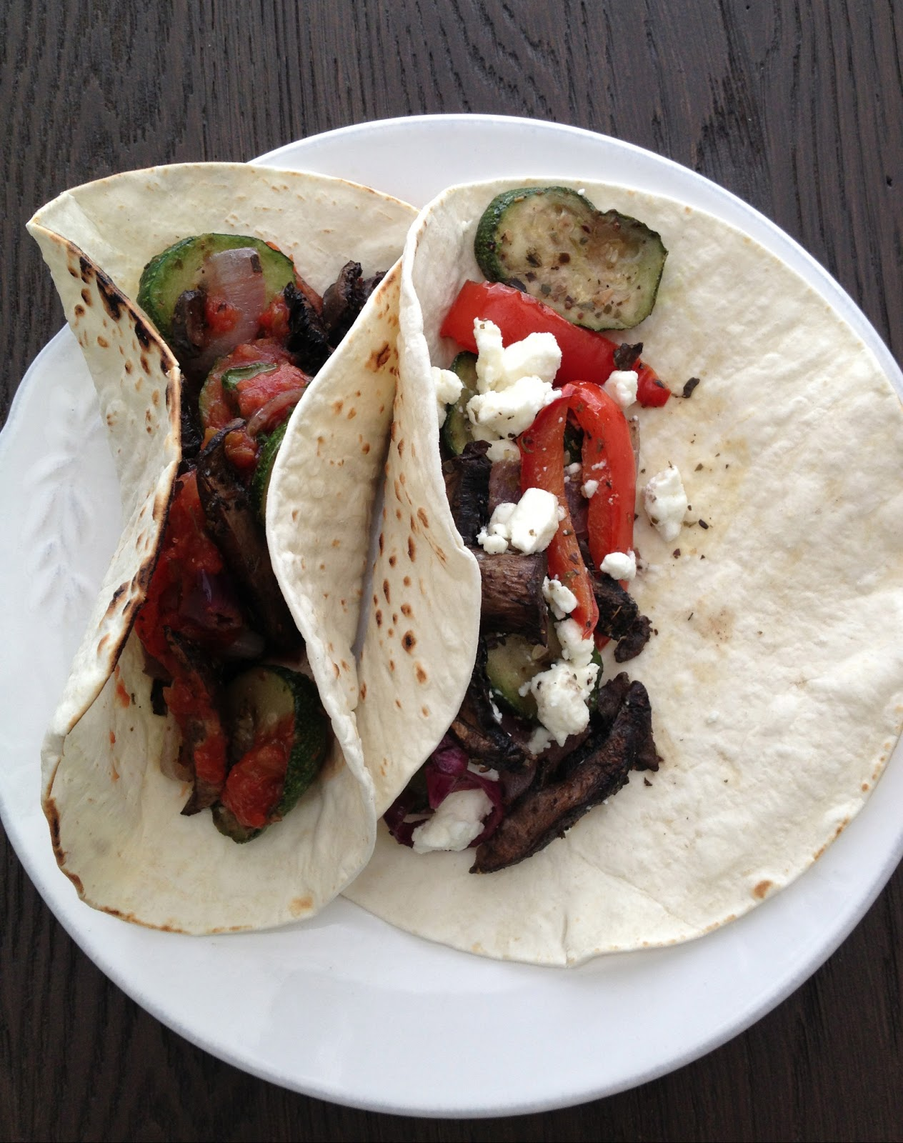 Portobello and Zucchini Tacos | D.M.R. Fine Foods