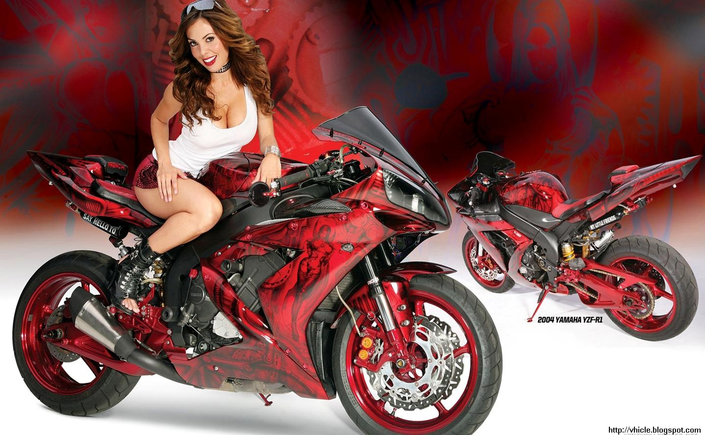 bikes and girls wallpaper 1440