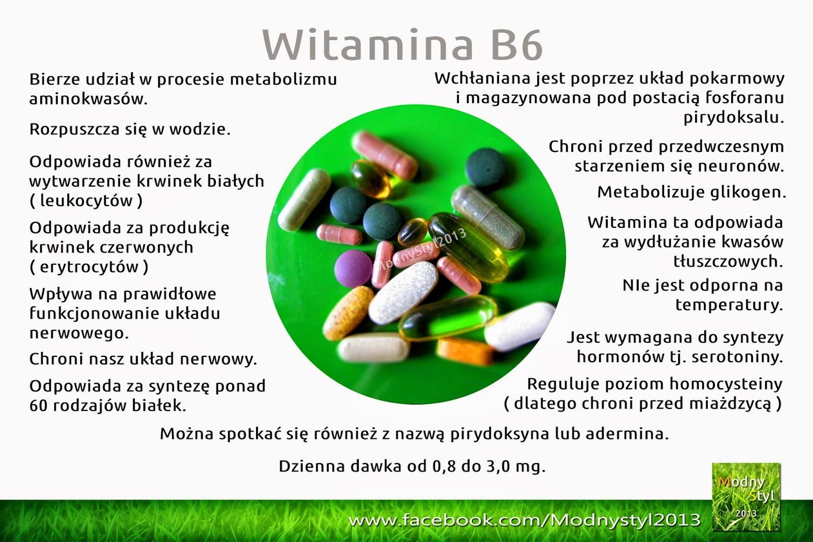 Witamina B6 zwana również pirydoksyną