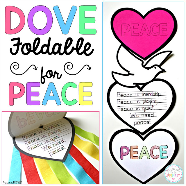Dove peace foldable writing craftivity by Proud to be Primary