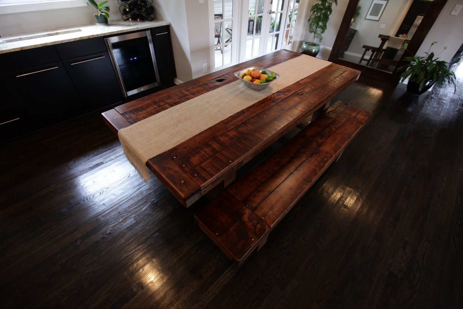 The Clayton Dining Table: Rustic, Distressed, Farm Home