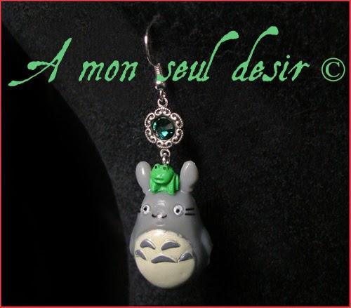 Boucles d'Oreilles Mon Voisin Totoro bijou Hayao Miyazaki Studio Ghibli Tonari no Totoro my neighbor totoro earrings