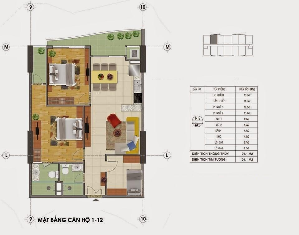 Mặt Bằng Chung Cư Tràng An Complex Tòa CT1