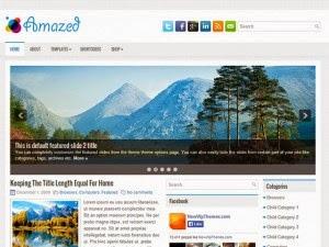 Amazed - Free Wordpress Theme