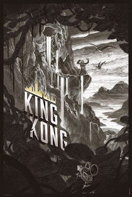 King Kong Standard Edition Sepia Toned Variant Screen Print by Nicolas Delort