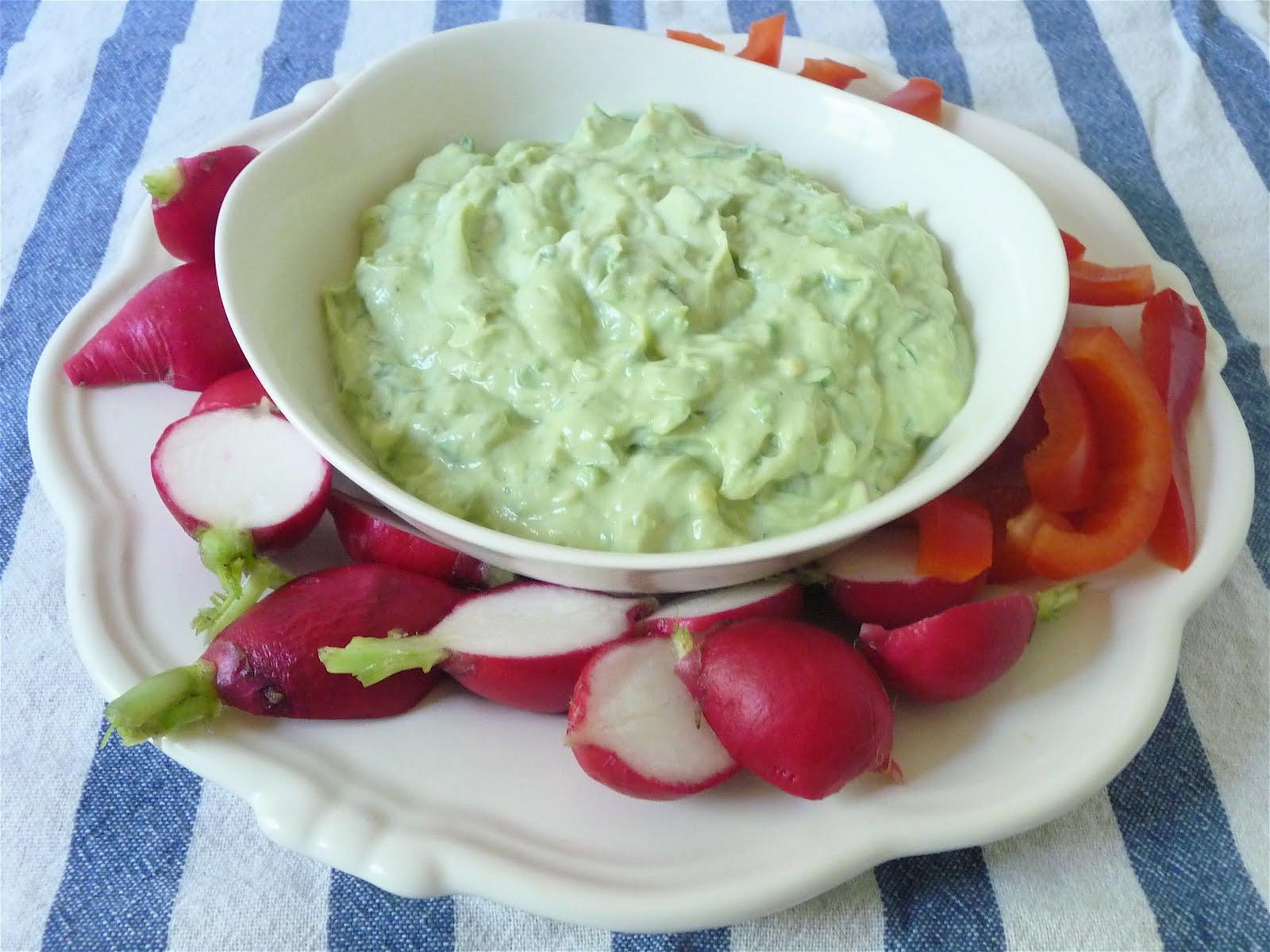 dinner party: avocado-yogurt dip