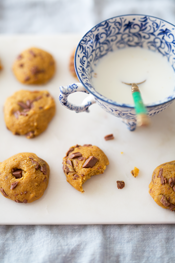 pumpkin chocolate spice cookies