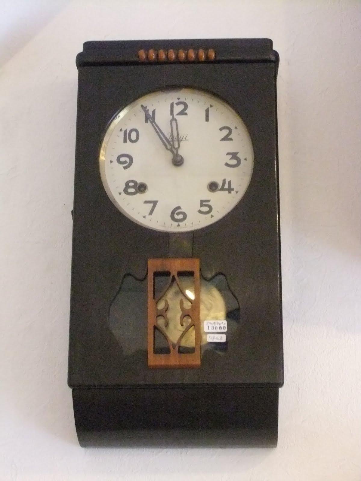オキュパイドジャパンmeiji製掛け時計