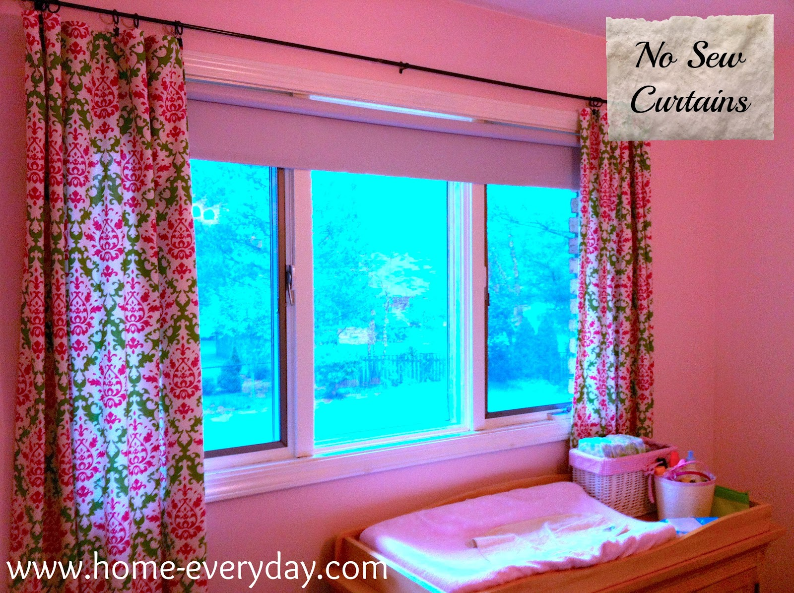 fast easy cheap no sew curtains home everyday. Black Bedroom Furniture Sets. Home Design Ideas
