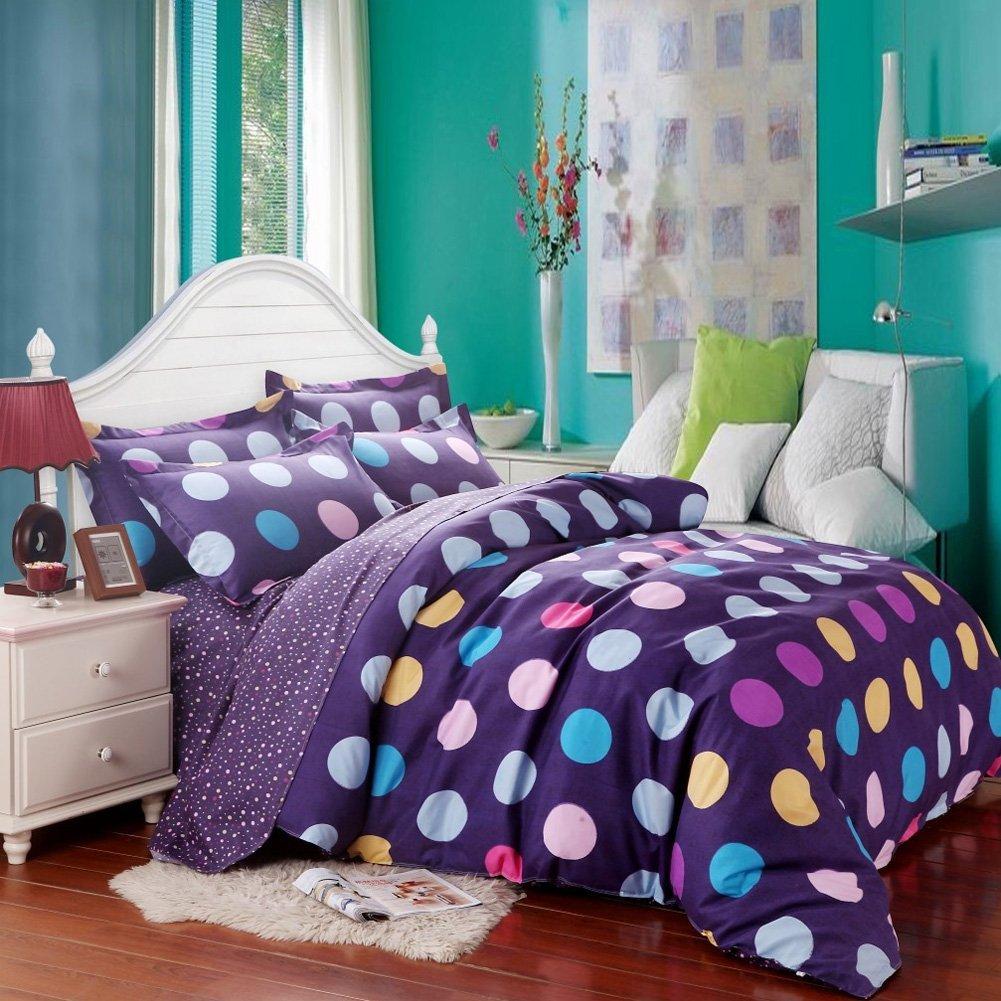 S Purple Polka Dot Comforter Set For Under 50