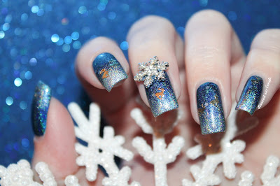 A Frozen // Wintery Nail Art