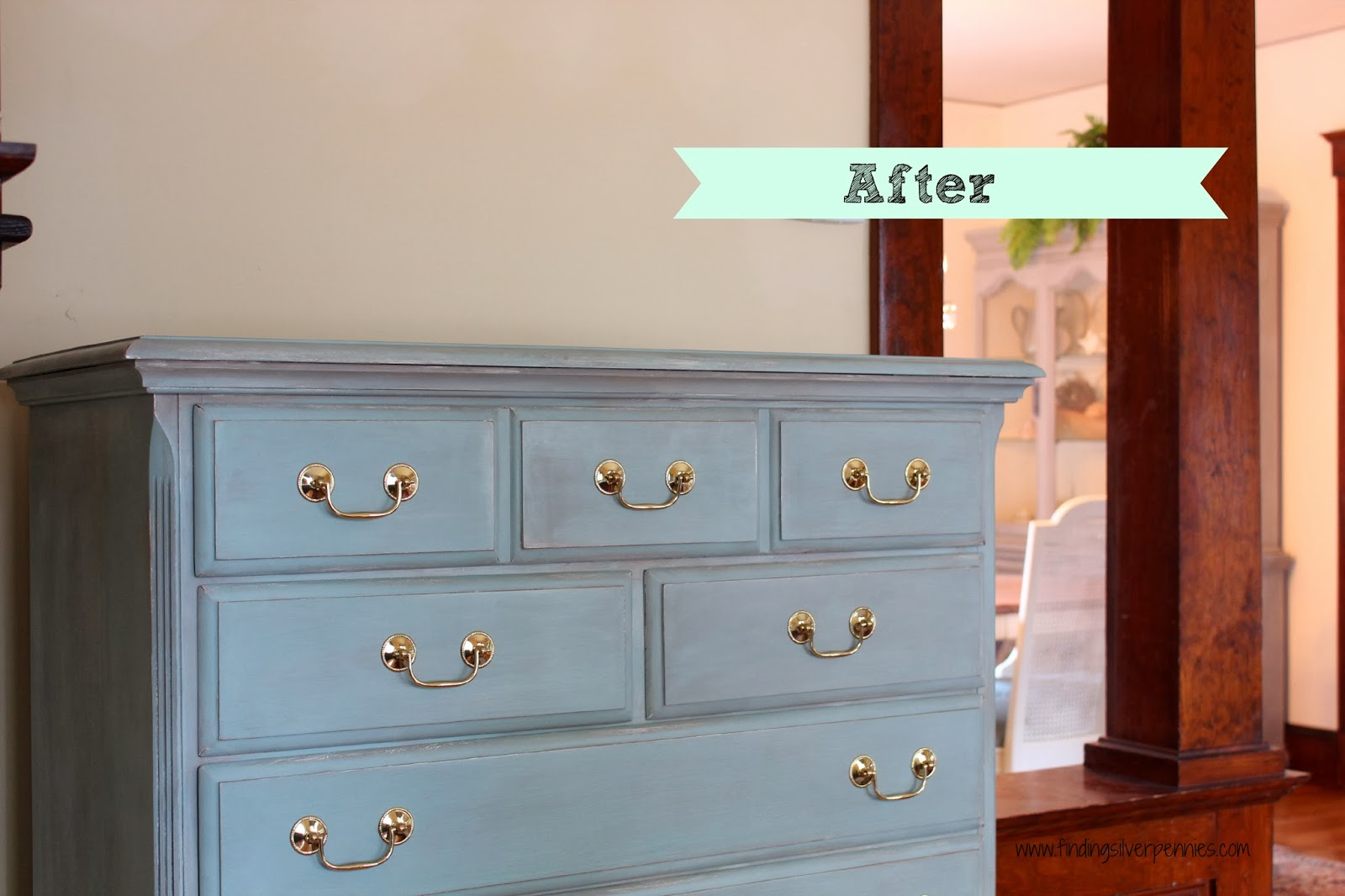 Paint Wash On Wood Leah Dresser Before After Finding Silver Pennies
