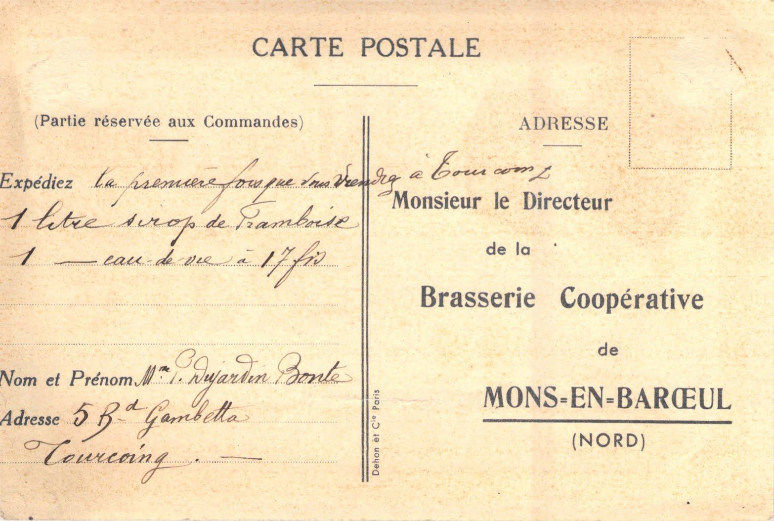 Cartes postales de la Brasserie