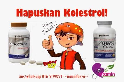phytocol shaklee turunkan kolestrol