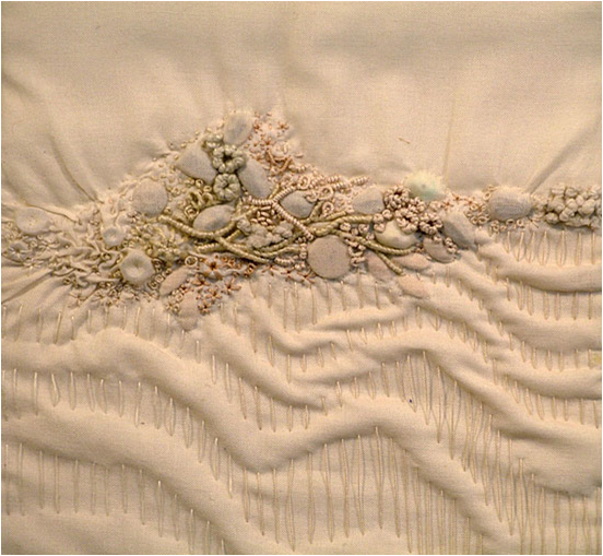 Art threads friday inspiration encrusted embroidery