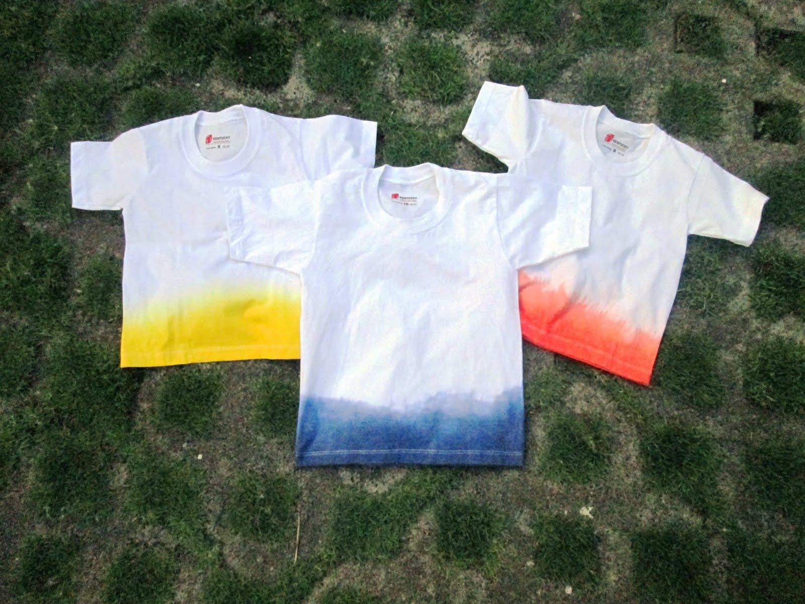 home-eco nanay: DIY DIp Dye T-shirts