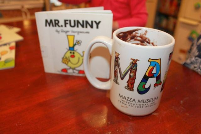 Roger Hargreaves - Mr. Funny Activity, cake in a cup via www.happybirthdayauthor.com