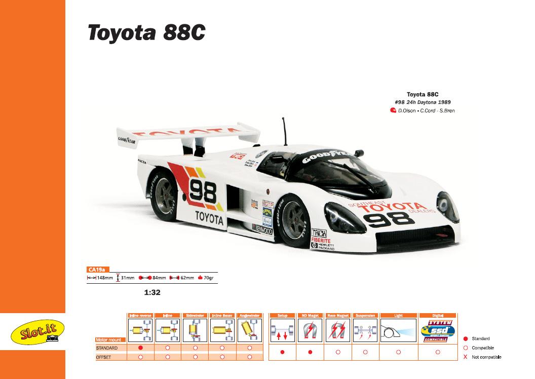 Slot.it Toyota 88C