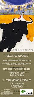 Ronda - Feria de Pedro Romero 2014 - Cartel Taurino