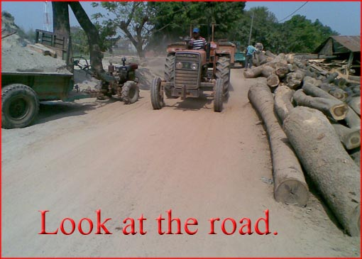 Tractors on Bangladeshi Rural Roads