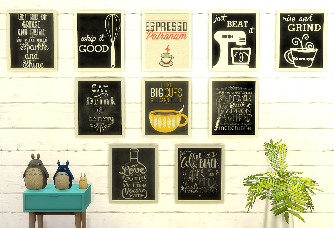 kitchen paintingsMy Sims 4 Blog Kitchen Paintings by Ladysyrensims