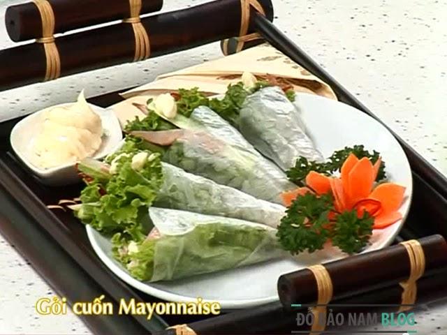 Cách làm món gỏi cuốn thịt Mayonnaise