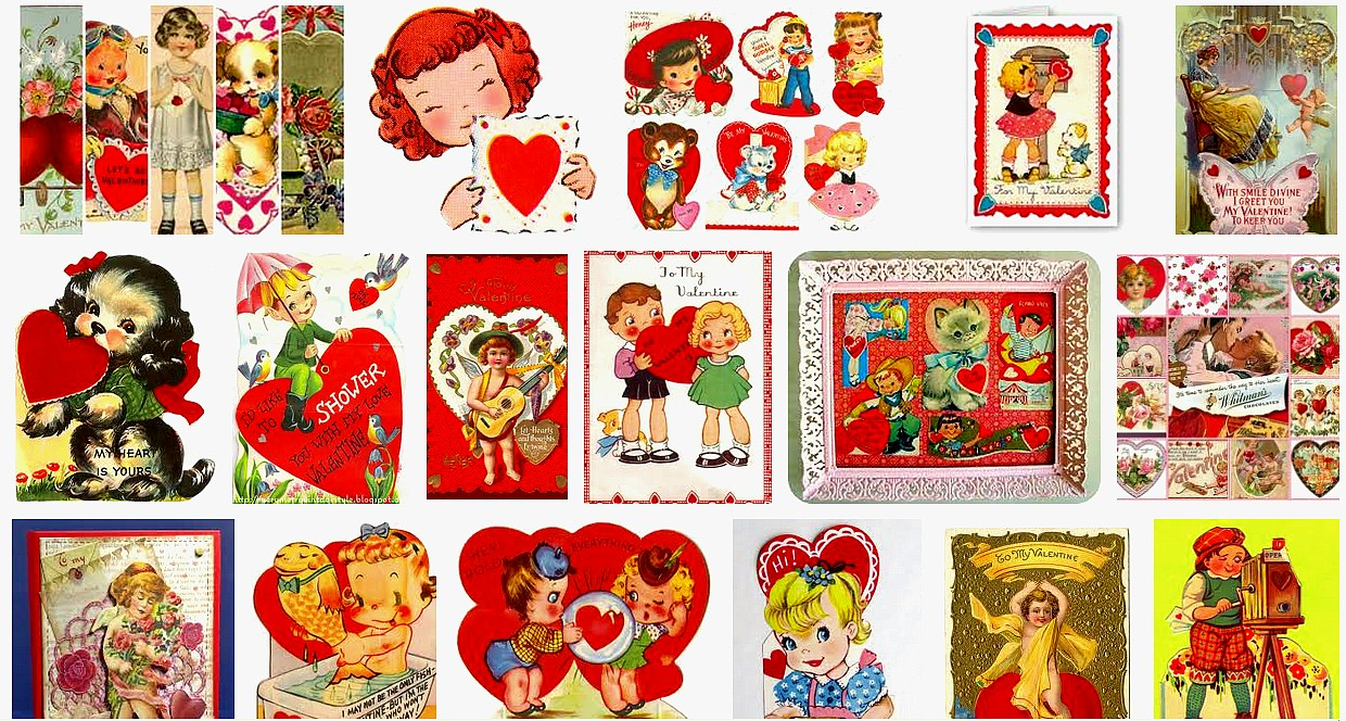 Ms Dow Antiques Tique Talk by Marianne Dow Happy St Valentines – Box of Valentine Cards